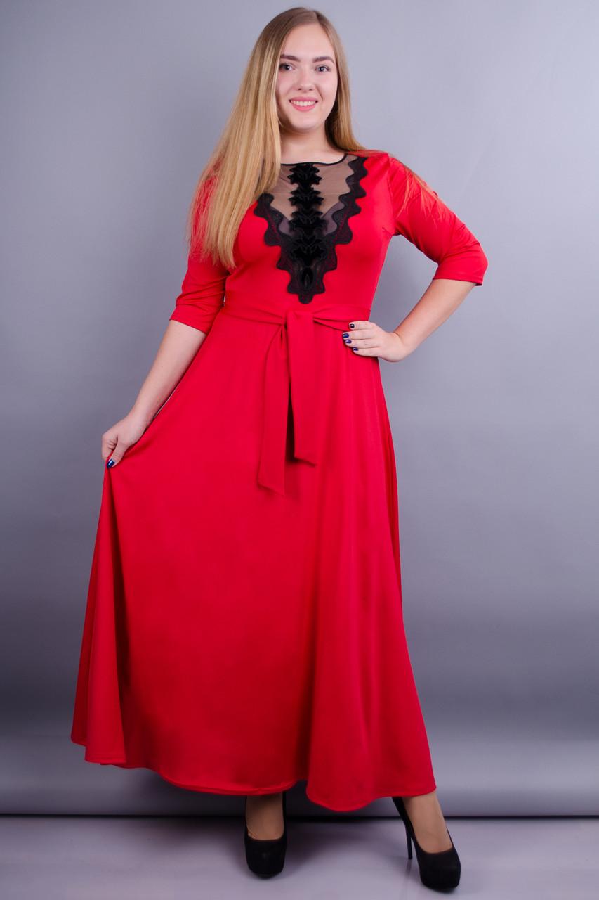 a06872761c1 Gloria Romana Регина. Нарядное платье больших размеров. Красный. 50