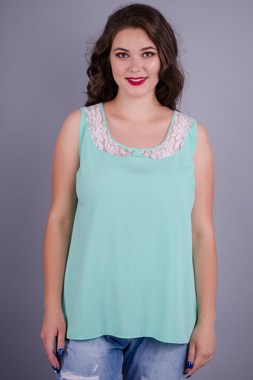Gloria Romana Аделина. Красивая блуза больших размеров. Мята. 56