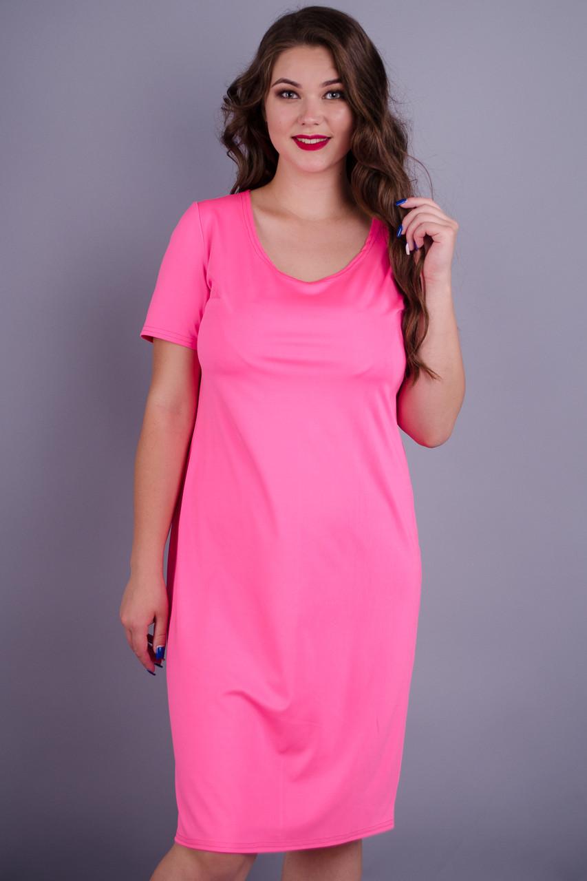 Gloria Romana Амина. Стильное женское платье plus size. Розовый. 54