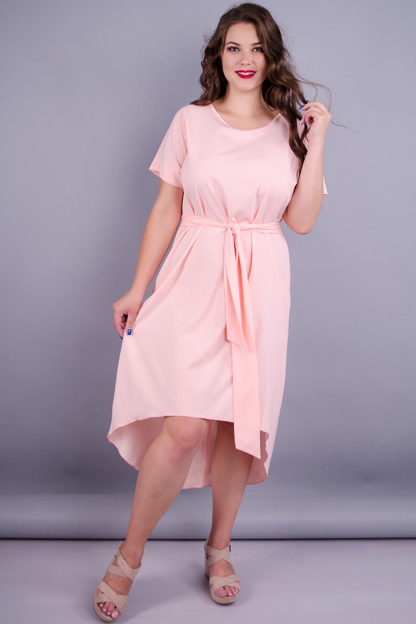 Gloria Romana Кристи. Нежное платье больших размеров. Персик. 56