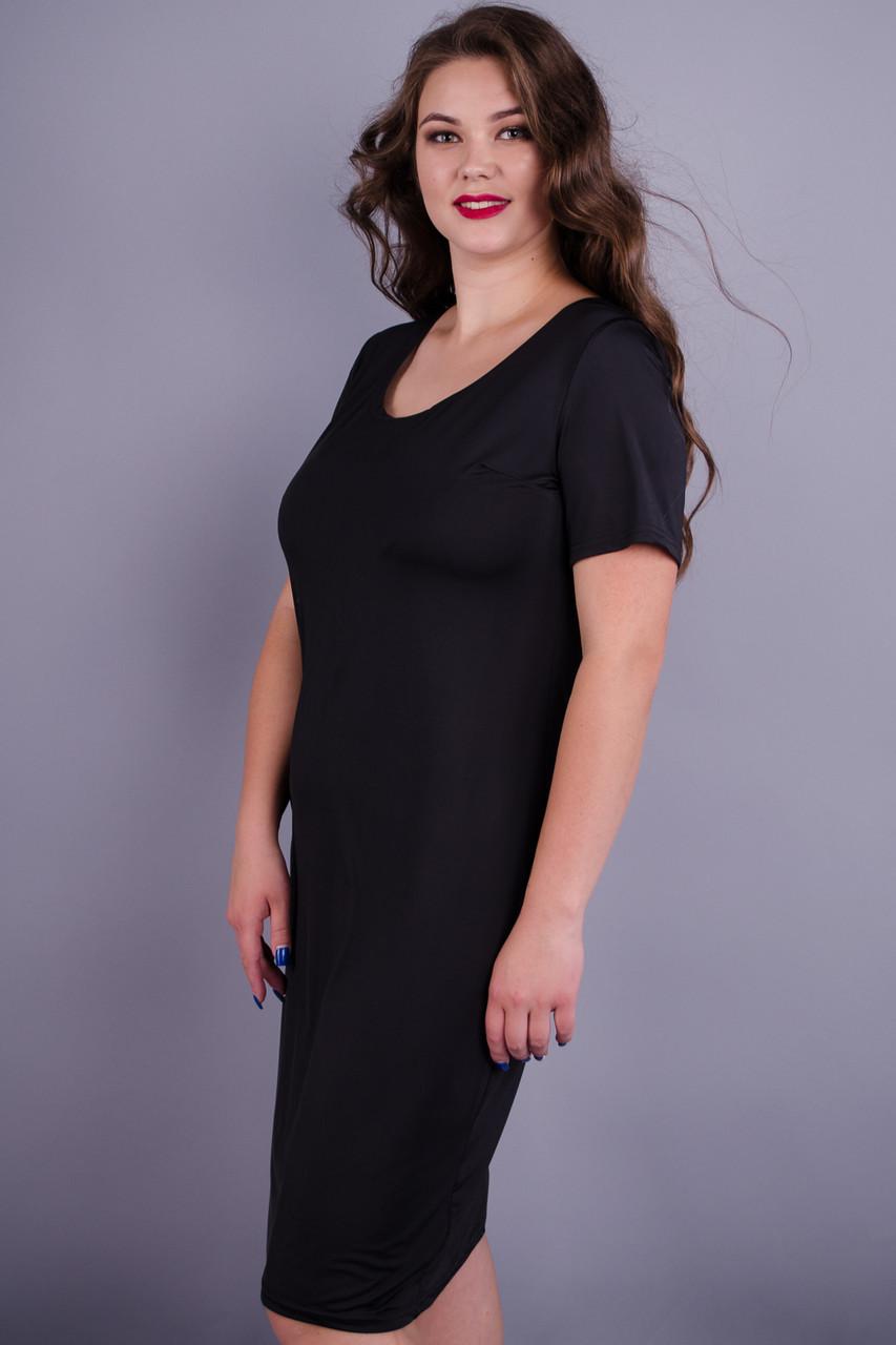 Gloria Romana Амина. Универсальное платье больших размеров. Черный. 54