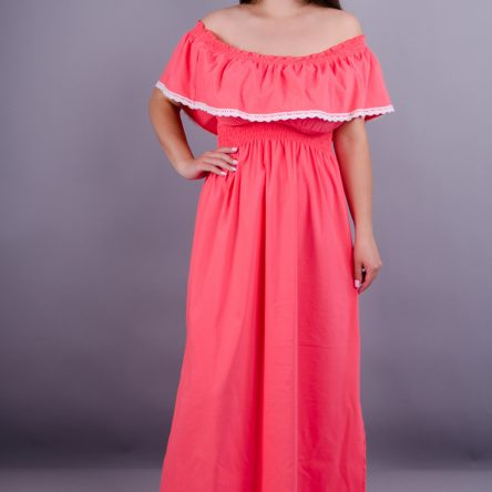 Gloria Romana Ксения. Модное летнее платье больших размеров. Розовый. 50