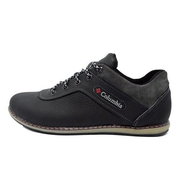 Krossovki-Columbia-Leather-Black-Gray